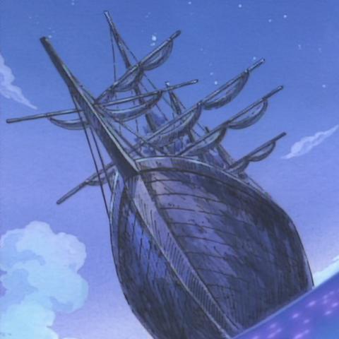 La nave apparsa nel flashback di Bagy