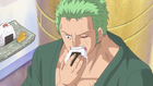 Zoro Eating Rice Ball