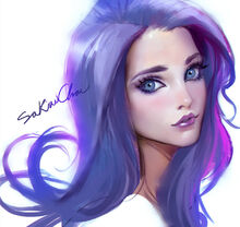 Girl-with-purple-hair