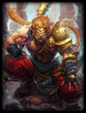 Victorious fighting monkey king