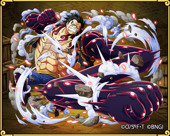 Monkey D Luffy Gear Four Enemy Of The Gods One Piece