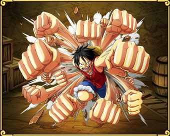Monkey D Luffy Gum Gum Gatling One Piece Treasure Cruise