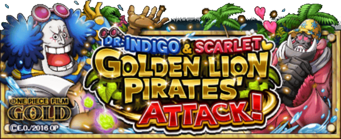 Golden Lion Pirates' Attack! Banner
