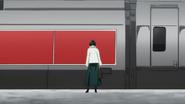 Fubuki ntering a train