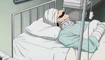 Moustachute hospitalisé