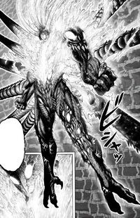 Orochi transforms into his strongest humanoid form