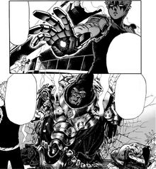 Genos defeats Armored Gorilla