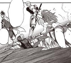 Iaïron aide Capitaine Mizuki et Psychodroïde