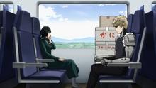 Genos and Fubuki on train