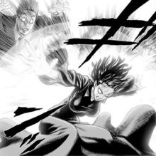 Fubuki blocking the groups attack