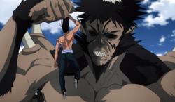 Bakuzan s'amuse à torturer Suiryû