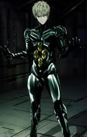 Genos réparé après avoir été battu par Mutant