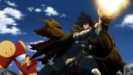 Death-Gatling protège Smile-man