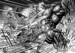 Darkshine tanks Garou's barrage of attacks