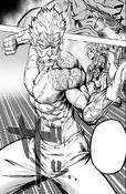 Bang preparing to use his maximum power