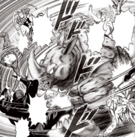Rhino Wrestler overwhelming heroes