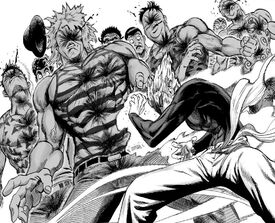 Garou defeats the Tanktop Army