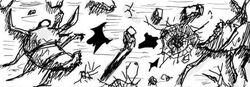 Cadavre de Scolopendre Aînée dans le webcomic