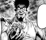 Bakuzan va dévorer plusieurs cellules de monstres