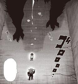 Un monstre est derrière Falot dans le tunnel