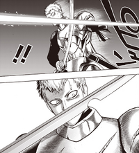 Evil Natural Water pierces Iaian's sword