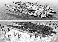Bombardement depuis le vaisseau