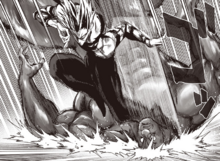 Garou kicks Superalloy Darkshine to the ground