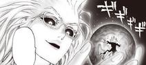 Psykos tient Tatsumaki dans le creux de sa main