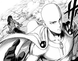 Saitama confronts Bakuzan manga