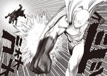 Saitama punches Rover
