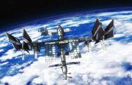 Satellite spatial dans l'animé