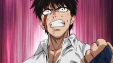 Saitama fights Crablante
