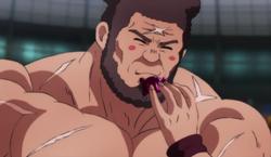 Hamkichi mange une cellule de monstre