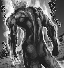 Garou evolves after his fight against Royal Ripper and Bug God