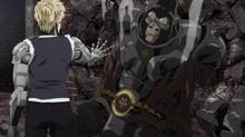 Genos defeats Armored Gorilla