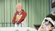 Saitama and Mumen Rider in the hospital