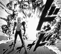 Genos fait une entrée explosive sur le champ de bataille