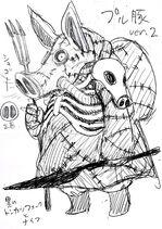 Brouillon du Roi des Enfers par Murata