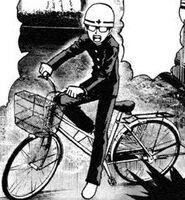 Collégien à bicyclette