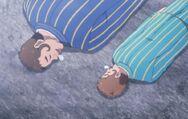 Rupin et son fils endormis par Puantor