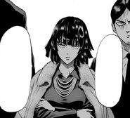 Fubuki greets Saitama