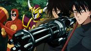 Stinger, Death-Gatling, Goldokorn et Smile-man