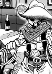 Vaquero con Máscara de Gas