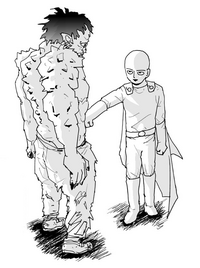 Saitama and monster Sweet Mask
