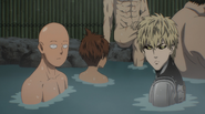 Saitama and genos bathing
