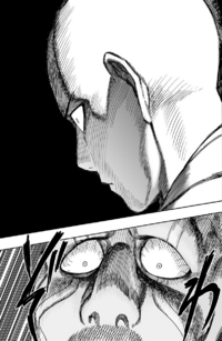 Saitama's intimidating look