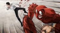 Crablante golpea a Saitama