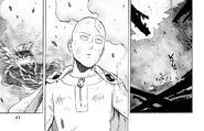 Saitama survives Laser