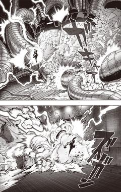 Sweet Mask destroys Monster Cell Tanks