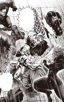 Les mercenaires encerclent les trois disciples